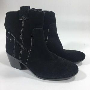 Sam Edelman Black Leather Ankle Boot Sz 6.5M Women